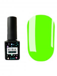 Гель-лак Kira Nails №124 (салатовый, эмаль, неоновый), 6 мл