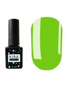 Гель-лак Kira Nails №125 (приглушенный светло-зеленый, эмаль), 6 мл
