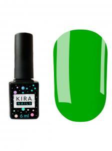 Гель-лак Kira Nails №126 (приглушенный зеленый, эмаль), 6 мл
