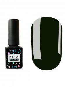 Гель-лак Kira Nails №128 (темно-зеленый, эмаль), 6 мл