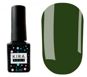 Гель-лак Kira Nails №148 (темно-зеленый, эмаль), 6 мл