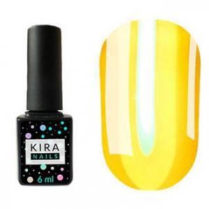 Гель-лак Kira Nails Vitrage №V02 (желтый, витражный), 6 мл