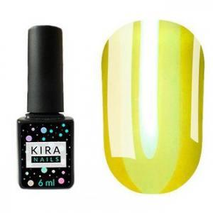 Гель-лак Kira Nails Vitrage №V03 (желто-зеленый, витражный), 6 мл