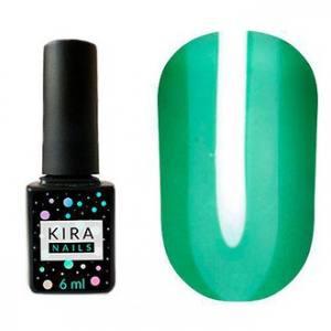 Гель-лак Kira Nails Vitrage №V06 (зеленый зеленка, витражный), 6 мл