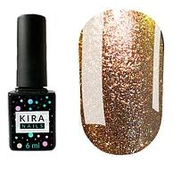Гель-лак Kira Nails 24 Karat №007 (бронзовый с блестками), 6 мл