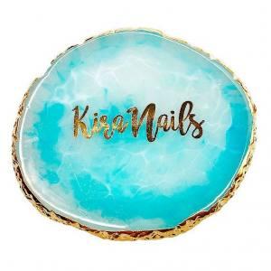 Палитра для разведения красок Kira Nails  цвет морской волны