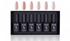 """Набор каучуковых основ Kodi для гель лака в коробке """"Natural Rubber Base"""" 12мл (6шт)"""
