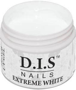 Гель для ногтей DIS Extreme White 30г (без липкого, прорисовочный белый)