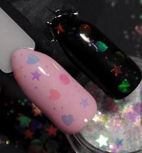 Камифубуки прозрачные Русалка (конфетти) для дизайна ногтей KMP-1