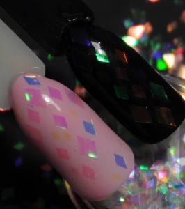 Камифубуки прозрачные Русалка (конфетти) для дизайна ногтей KMP-3