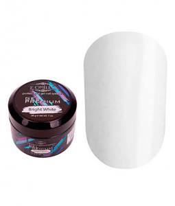 Белый гель для наращивания Komilfo Gel Premium Bright White 30 г