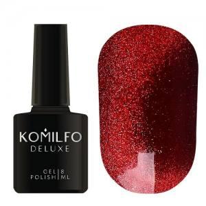 Гель-лак Komilfo 9D Cat's eye Red 001 (темно-красный, магнитный), 8 мл