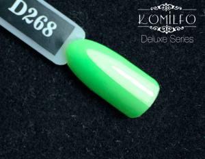 Гель-лак Komilfo Deluxe Series №D268 (салатовый, неоновый, эмаль), 8 мл