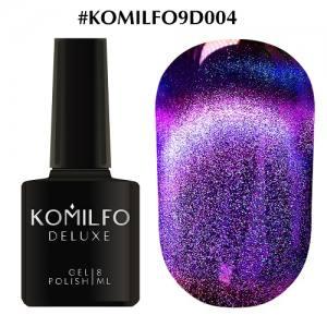 Гель-лак Komilfo 9D Cat's eye №004 (пурпурно-синий, магнитный), 8 мл
