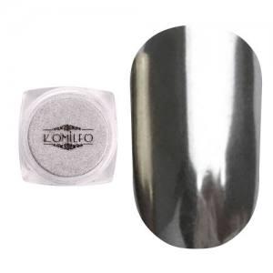 Втирка металлик Komilfo Mirror Powder №001, серебро, 0,5 г