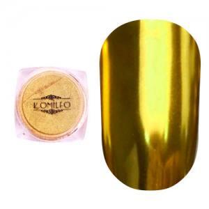 Втирка металлик Komilfo Mirror Powder №002, золото, 0,5 г