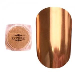 Втирка металлик Komilfo Mirror Powder №004, бронзовый, 0,5 г