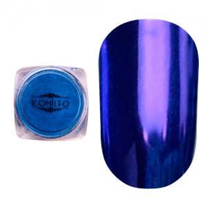 Втирка металлик Komilfo Mirror Powder №005, синий, 0,5 г