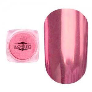 Втирка металлик Komilfo Mirror Powder №010, нежно-розовый, 0,5 г