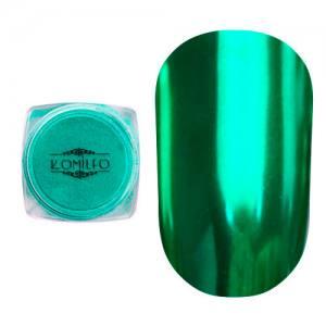 Втирка металлик Komilfo Mirror Powder №011, зеленый, 0,5 г
