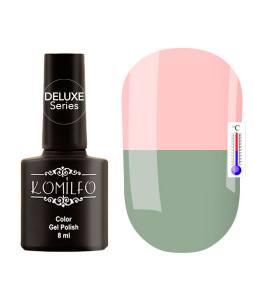 Гель-лак Komilfo DeLuxe Termo №C002 (бледный серо-зеленый, при нагревании — розовый), 8 мл