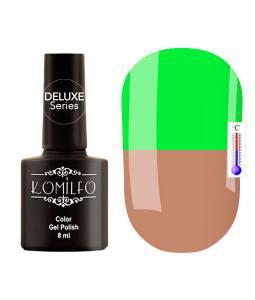 Гель-лак Komilfo DeLuxe Termo №C003 (светло-коричневый, при нагревании — яркий салатовый), 8 мл