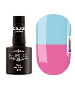 Гель-лак Komilfo DeLuxe Termo №C011 (приглушенный сиренево-розовый, при нагревании — голубой), 8 мл