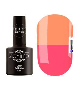 Гель-лак Komilfo DeLuxe Termo №C014 (приглушенный чайный розовый, при нагревании — спокойный оранжевый), 8 мл