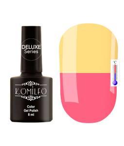 Гель-лак Komilfo DeLuxe Termo №C015 (спокойный розовый, при нагревании — теплый желтый), 8 мл