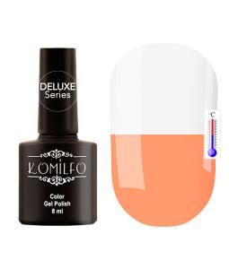 Гель-лак Komilfo DeLuxe Termo №C016 (персиково-оранжевый, при нагревании — белый), 8 мл