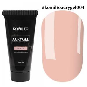 Акригель Komilfo AcryGel 004 Nude, 30 г Нюдовый