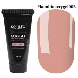 Акригель Komilfo AcryGel 006 Natural, 30 г Натуральный