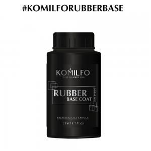 База Komilfo Rubber Base Coat  каучуковая база для гель-лака без кисточки, 30 мл (боченок)