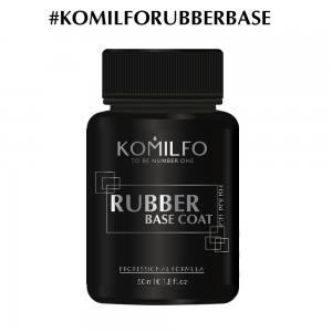 База Komilfo Rubber Base Coat  каучуковая база для гель-лака без кисточки, 50 мл