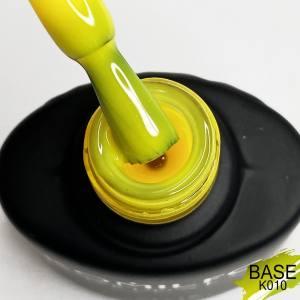 Базовое покрытие Komilfo Kaleidoscopic Base №010 (желтый, неон), 8 мл