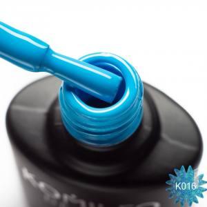 Гель-лак Komilfo Kaleidoscopic Collection K016 (голубой, неоновый), 8 мл