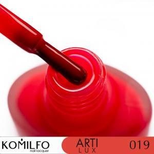 Лак для ногтей Komilfo ArtiLux 019  красно-розовый, эмаль  8 мл
