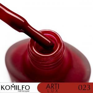 Лак для ногтей Komilfo ArtiLux 023   бордовый, эмаль  8 мл