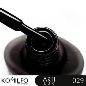 Лак для ногтей Komilfo ArtiLux 029  черный, эмаль 8 мл