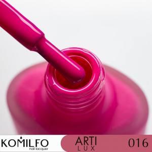 Лак для ногтей Komilfo ArtiLux 016  фуксия, эмаль  8 мл