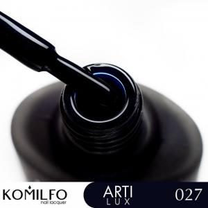 Лак для ногтей Komilfo ArtiLux 027  глубокий синий, с шиммером  8 мл