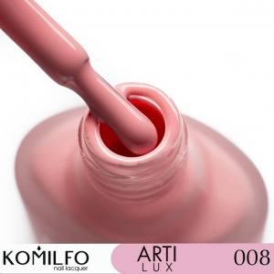 Лак для ногтей Komilfo ArtiLux 008 приглушенно-розовый, эмаль 8 мл