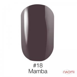 Гель-лак Naomi №18 (серо-фиолетовый эмаль), 6 мл