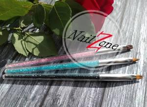 Кисть для геля с фианитами Nail Zone