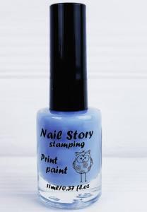 Лак для стемпинга Nail story №1 небесно-голубой 11мл