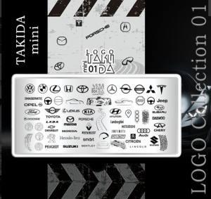 Пластина для стемпинга TakiDa Mini LOGO 01