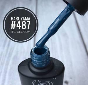 Гель-лак Haruyama Классика №487, сине-бирюзовый, 8 мл