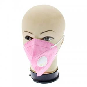 Маска-респиратор для лица с клапаном розовая