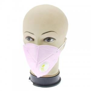 Маска-респиратор для лица с клапаном светло-розовая
