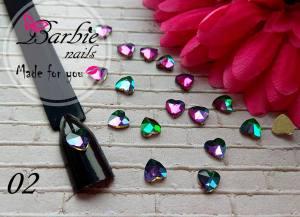 Стразы фигурные стекло BarbieNails 1шт №2